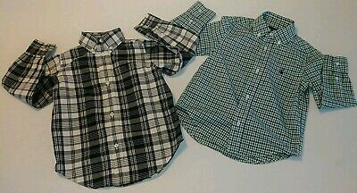 Lot of 2 Boys Ralph Lauren Collared Shirts Size 3T Button Down Plaid