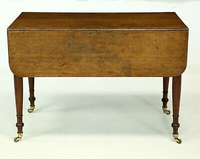 Victorian Solid Oak Drop Leaf Table With Casters FREE Nationwide Delivery