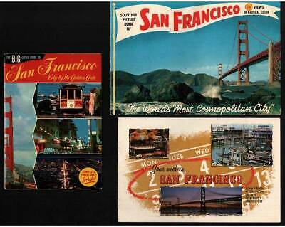 1950-60's SAN FRANCISCO Souvenir Booklets & FISHERMEN'S GROTTO Menu / Match Book