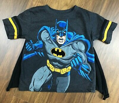 Batman Black Graphic T-shirt With Cape Size 3T