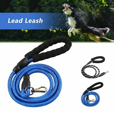 Strong Pet Dog/Cat Puppy Reflective Rope Walking Lead Leash w/Padded Handle GN