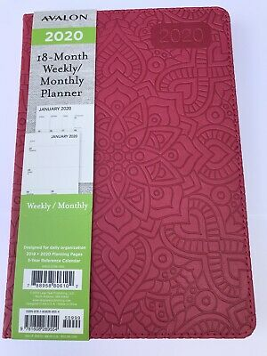 2020 Avalon 18-month Weekly/Monthly Planner Calendar Agenda Book HIBISCUS 5x8