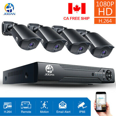 JOOAN CCTV Security Camera System HDMI 8CH DVR Video Home Outdoor 1TB or 2TB HDD