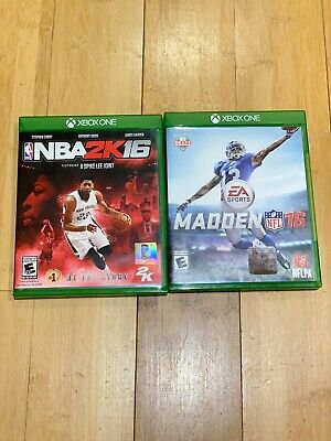 NBA 2K16 (Sony PlayStation 4, 2015) & Madden NFL16  (Xbox One, 2015) !NICE!