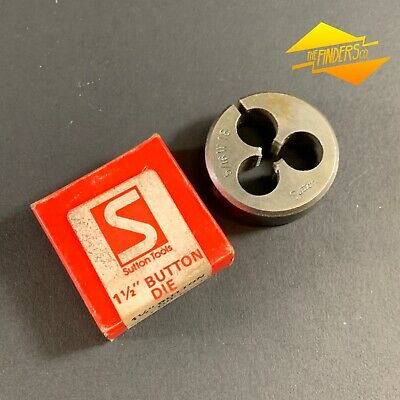 "SUTTON TOOLS 5/16"" x 18TPI BSW WHITWORTH 1.5"" SPLIT BUTTON DIE *NEAR NEW* STWB2"