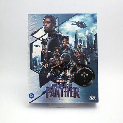 Black Panther - Blu-ray 2D & 3D Combo Steelbook Full Slip Type A2 (2019) / WeET