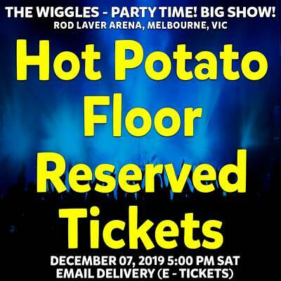 The Wiggles | Melbourne | Hot Potato Floor Reserved Tickets Sat 07 Dec 2019 5Pm
