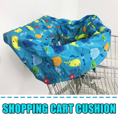Baby Kids Shopping Trolley Cart Seat Pad High Chair Cover Printing Cushion + Bag