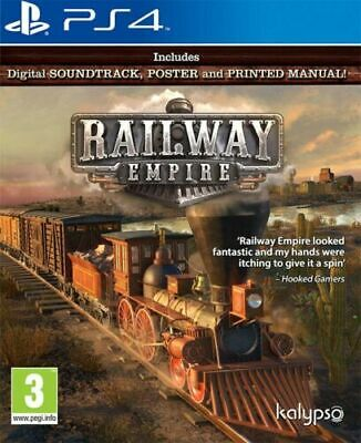Railway Empire (PS4 PLAYSTATION 4 VIDEO GAME) *NEW/SEALED* FREE P&P