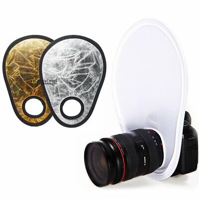 2 in 1 30cm Light Collapsible Photo Light Reflector + White Diffuser Photography
