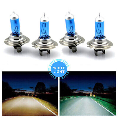 4x 12V H7 55W Xenon 6000k Halogen Car Front Head Light Lamp White Globe Bulbs