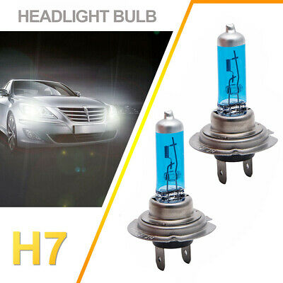 1Pair 12V H7 55W Xenon 6000k Halogen Car Front Head Light Lamp White Globe Bulb