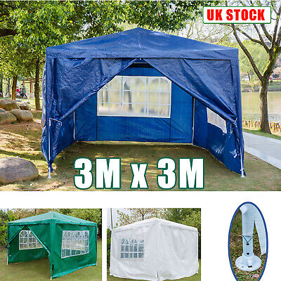 3 x 3m Garden Awning Gazebo Marquee Heavy Duty Party Tent Outdoor Wedding Canopy