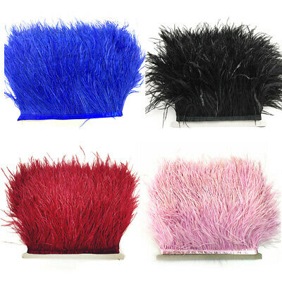 Dress Sewing Stage Clothes Feather Fringe Ostrich Trims Ribbon Tape Soft DIY