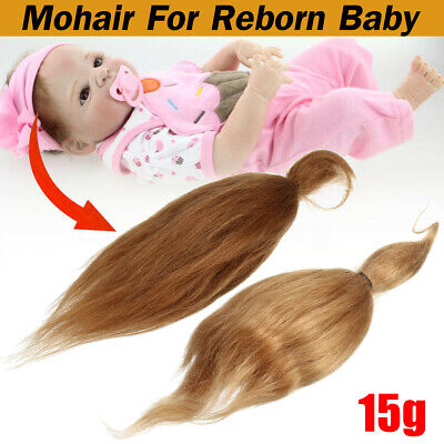 15g Mohair Gold Brown for Rooting Reborn Baby Doll Newborn Doll DIY