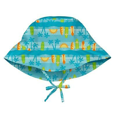 I Play Bucket Sun Protection Hat, 2 anni/4 anni, Aqua Surfboard Sunset