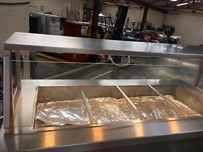 Newco Commercial Hot Cupboard Heated Carvery Trolley .