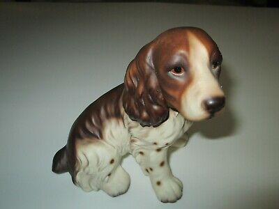 Vintage Springer Spaniel Dog Figurine Marked D368A  5 5/8""