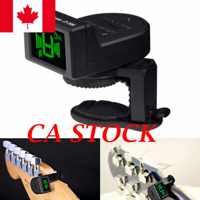 CA LCD Clip-on Electronic Digital Guitar Tuner for Chromatic Violin Ukulele new