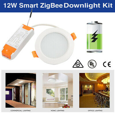Smart LED Downlight 12W ZigBee Ceiling Light Voice Control LED Flat Panels Home