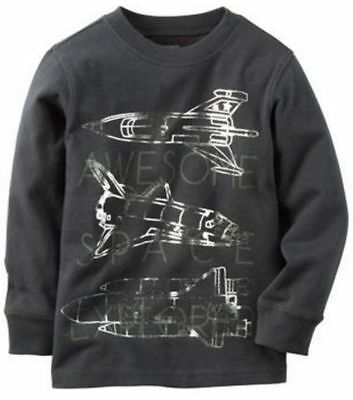 Carter's Baby Boy   NEW   Space Explorer Tee Dark Gray  Size 6M  ~  MSRP $14