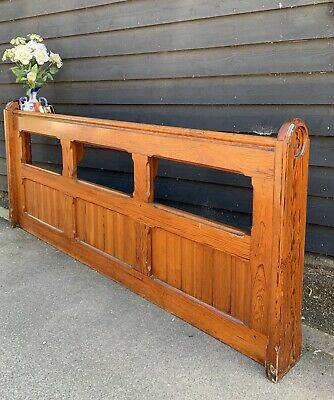 Pitch Pine Ecclesiastical Church Pew Fronts / Dividers Perfect Hall Stands