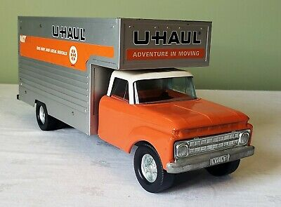 VINTAGE 1960'S NYLINT Ford Uhaul Steel Toy Moving Truck With