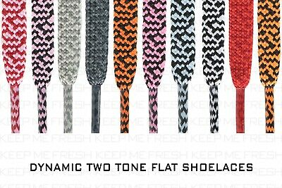 Flat Two Tone Shoelaces For Nike Adidas Converse Athletic Shoes Buy 2 Get 1 Free