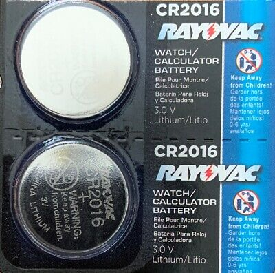 2- CR 2016 Rayovac LITHIUM BATTERIES 3V Watch Exp.2023 Authorized seller.