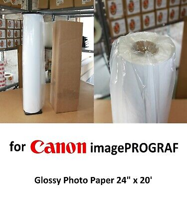 "Universal Glossy Photo Paper 24"" x 20' for CANON imagePROGRAF Inkjet Printer"