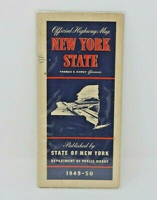 Official Highway Map of New York State Department of Public Works 1949-1950 Look