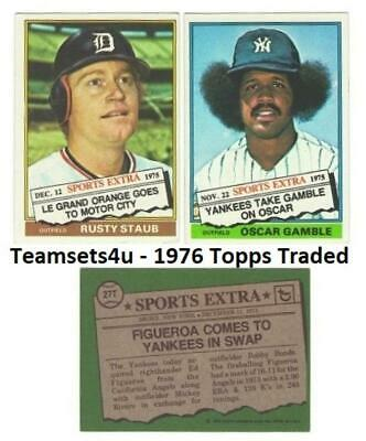 1976 Topps Traded Baseball Set ** Pick Your Team ** See Checklist in Description