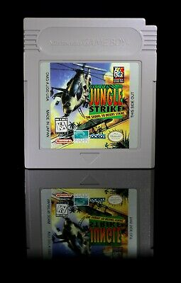 Jungle Strike [Nintendo Gameboy Helicopter Chopper War Game GB AUTHENTIC! USA!]