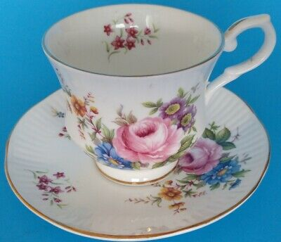 Vintage Fine Bone China Tea Cup With Saucer Made in England