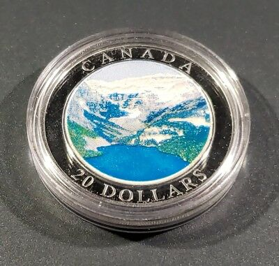 Canada 20 Dollars 2003 1 once Troy Silver  Rocky Mountains