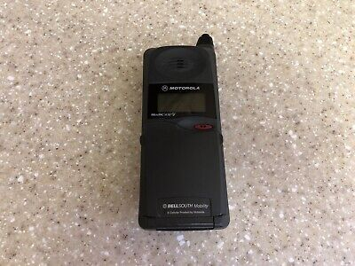 Vintage MOTOROLA MicroTAC DPC650 Flip Cell Phone Retractable Antenna Untested