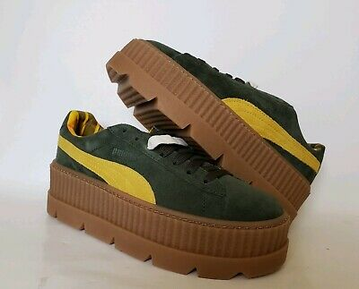 uk availability 78ca0 549ab NEW PUMA FENTY by Rihanna Cleated Creeper wmns sz 8 Suede Green 366268-01