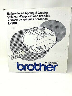 New Brother Embroidered Applique Creator E-100 NIB Arts Crafts