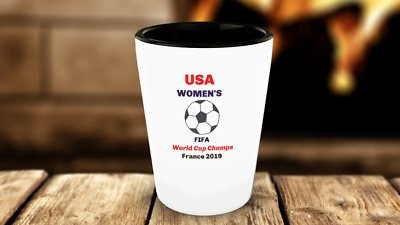 Women Soccer Champs Shot Glass USA World Cup Ceramic Sport Tea Cup drinkware