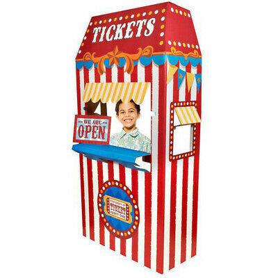 TICKET BOOTH CIRCUS Theme Party Supplies Carnival Standing Cardboard