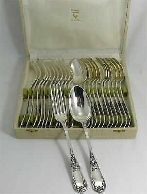 Ravinet D'Enfert 12 Beaux Cutlery Table Louis XV, 24 Parts, Excellent Condition