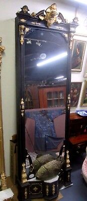 Antique Victorian Renaissance Italianate Pier Mirror 12' High Shrewsbury Museum
