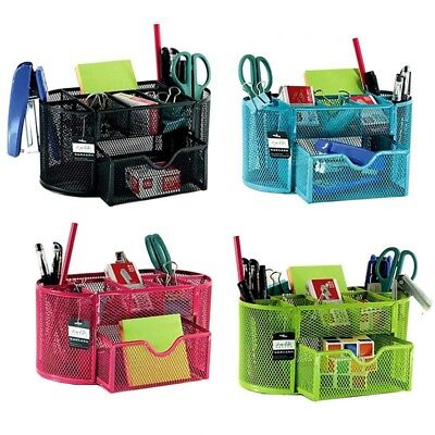 9 Grids Pens Holder Metal Pen Cups Boxes Office Stationery Desk Accessories #LF