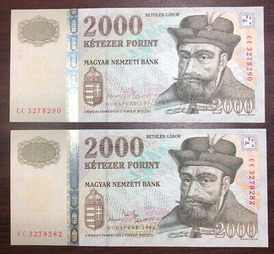 Hungary 2000 2,000 Forint 2004 Euro Prince Scientist Unc Money Bill Note