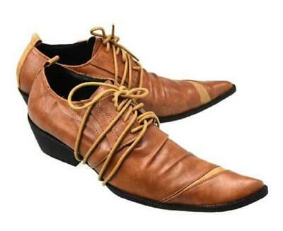 New Men/'s Real Leather Dress Formal shoes Lace Up Black or Brown N5115