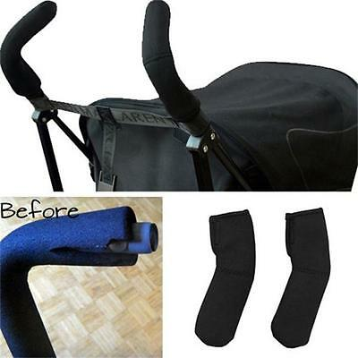 Black Handle Bar Cover for Baby Pushchairs Prams Strollers Buggys Accessories MP