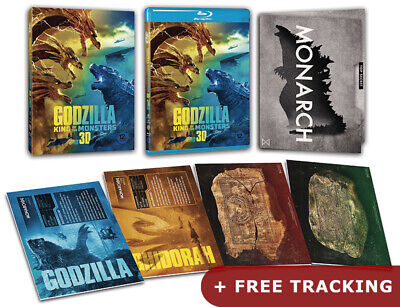 Godzilla King Of The Monsters .Blu-ray 2D & 3D w/ Slipcover & Monster Cards