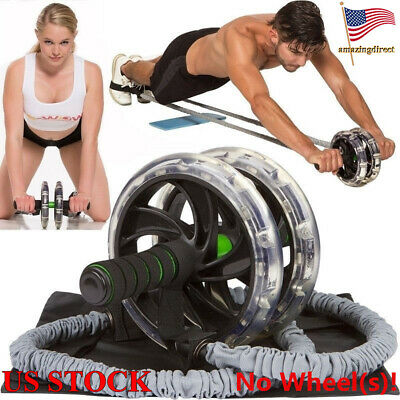 Ab Roller Wheel Pull Rope Waist Abdominal Slimming Exercise Yoga Stretch Band