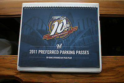 2011 Milwaukee Brewers Game Preferred Parking Passes Tickets Full Booklet Unused