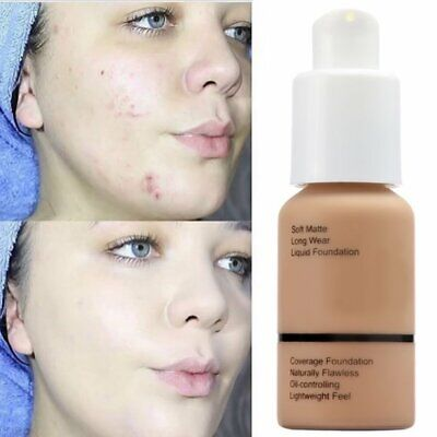 AU Coverage Concealer Moisturizing Cosmetic PHOERA Liquid Foundation Precious LL